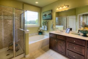 New Home Merchandising, Southwind, Bathroom, Frisco