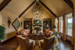 New Home Merchandising, Luxury Family Room, Trophy Club, TX